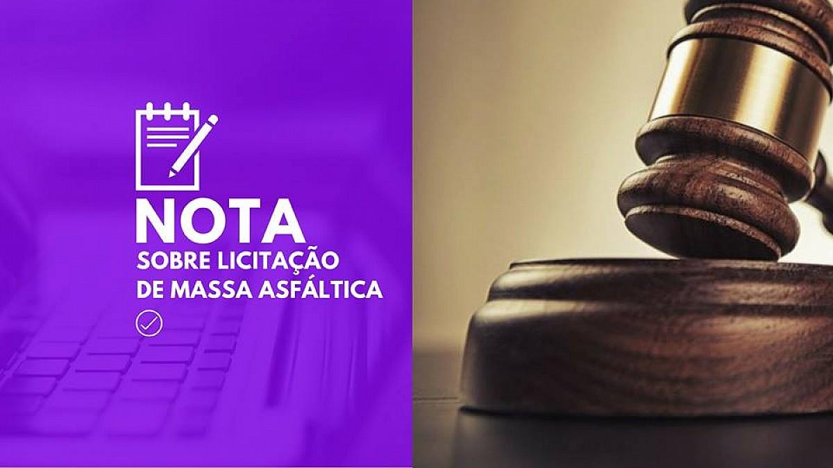 Prefeitura contesta notícia sobre irregularidade em Licitação