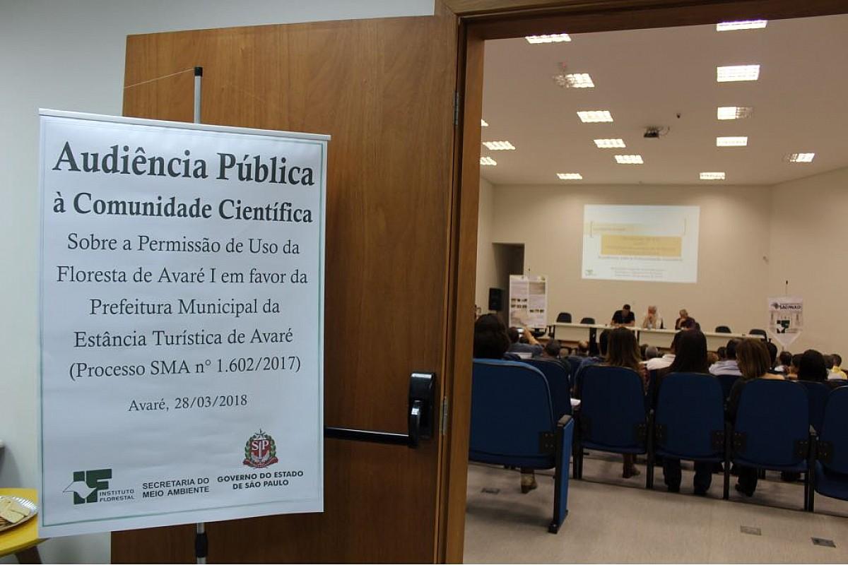 Audiência Pública debateu os aspectos do Horto Florestal