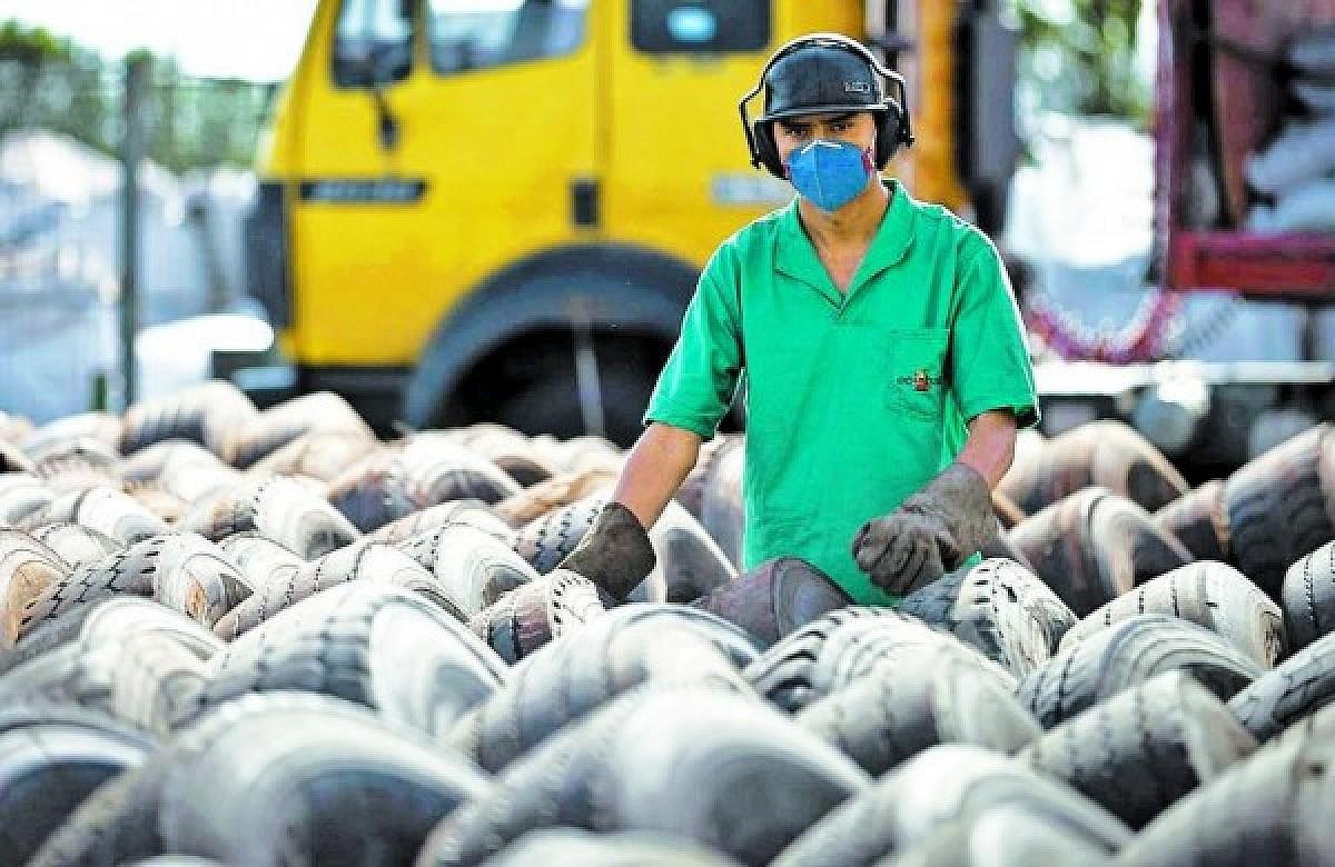 Campanha cria ponto de coleta para pneus sem uso