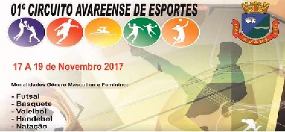 Secretaria realizará o 1º Circuito Avareense de Esportes