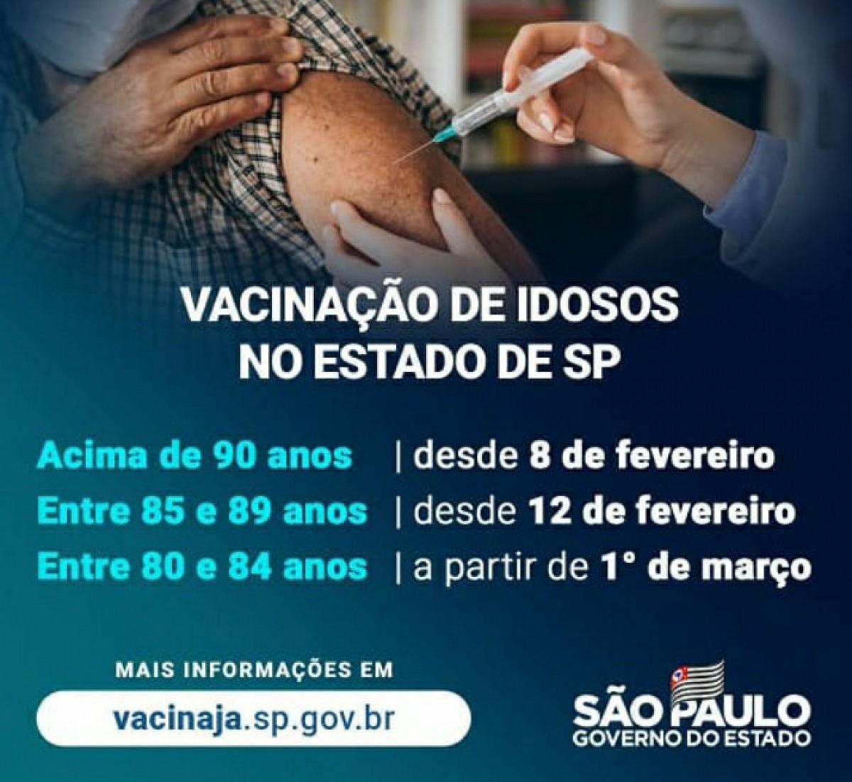 Confira o calendário oficial da vacinação contra a Covid-19
