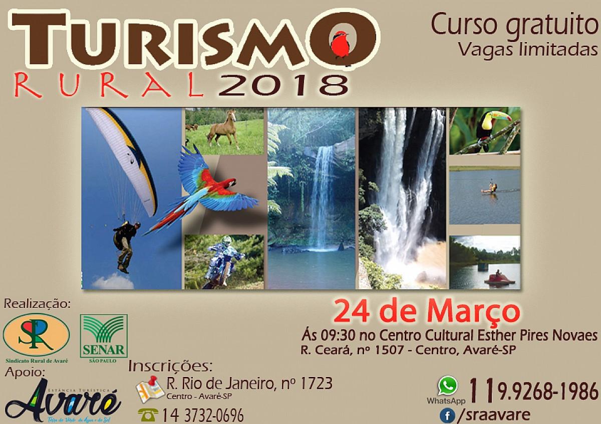 Inscrições ainda estão abertas para o curso de Turismo Rural