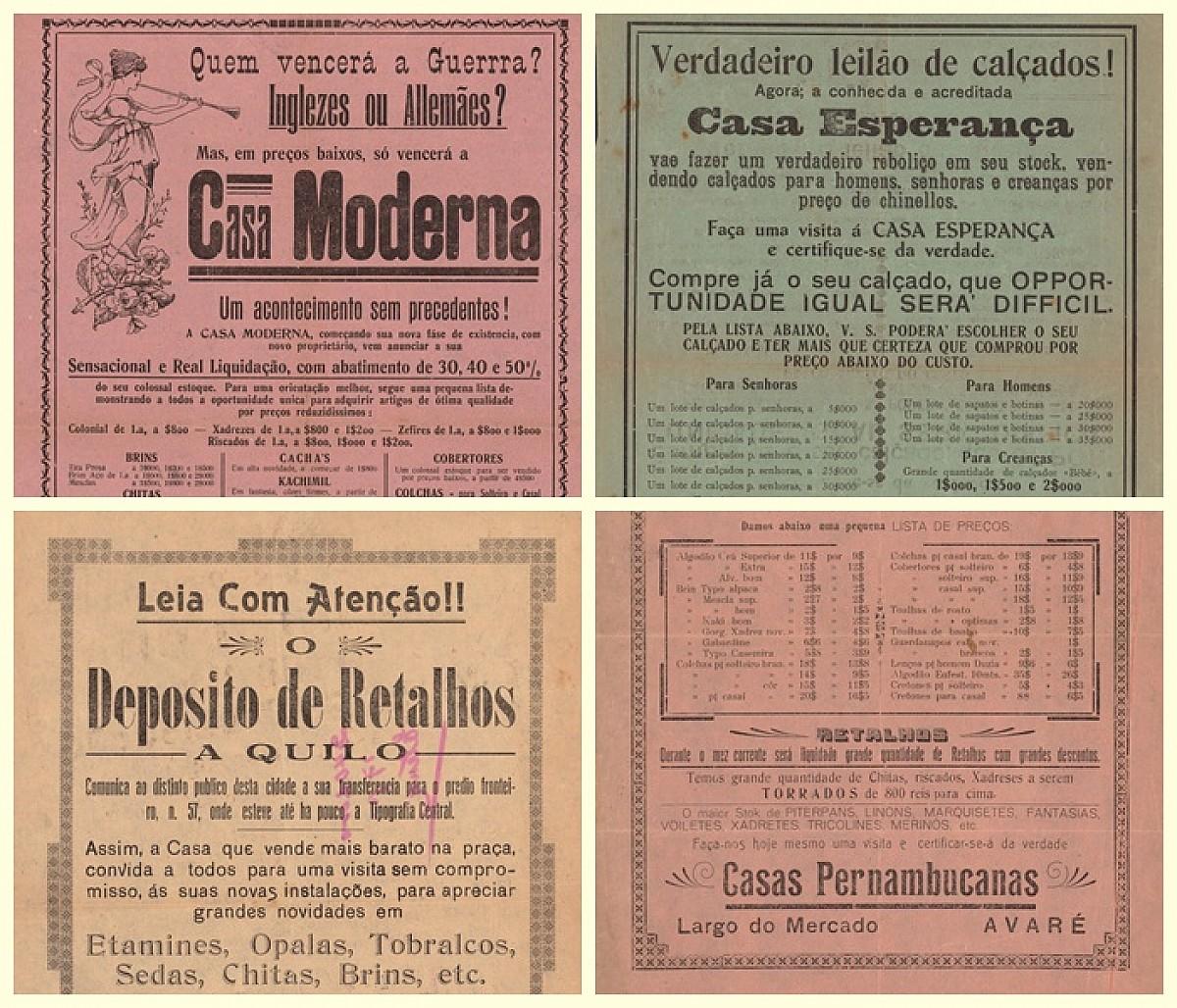 Publicidade dos anos 1930 é tema de mostra no Museu Municipal