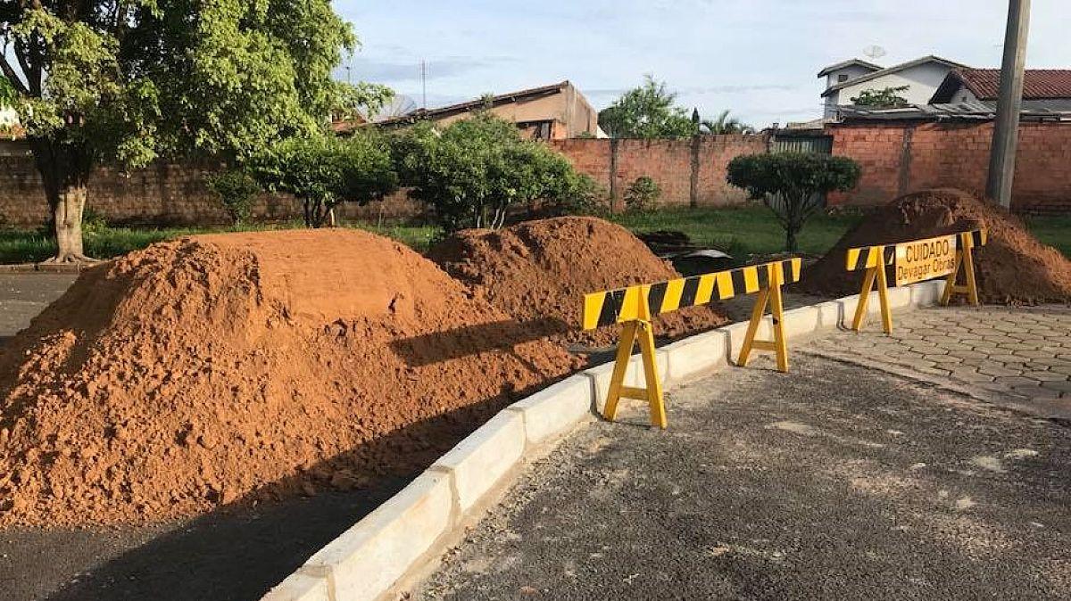 Ruas do Jardim Europa II são interditadas para continuidade das obras de recuperação
