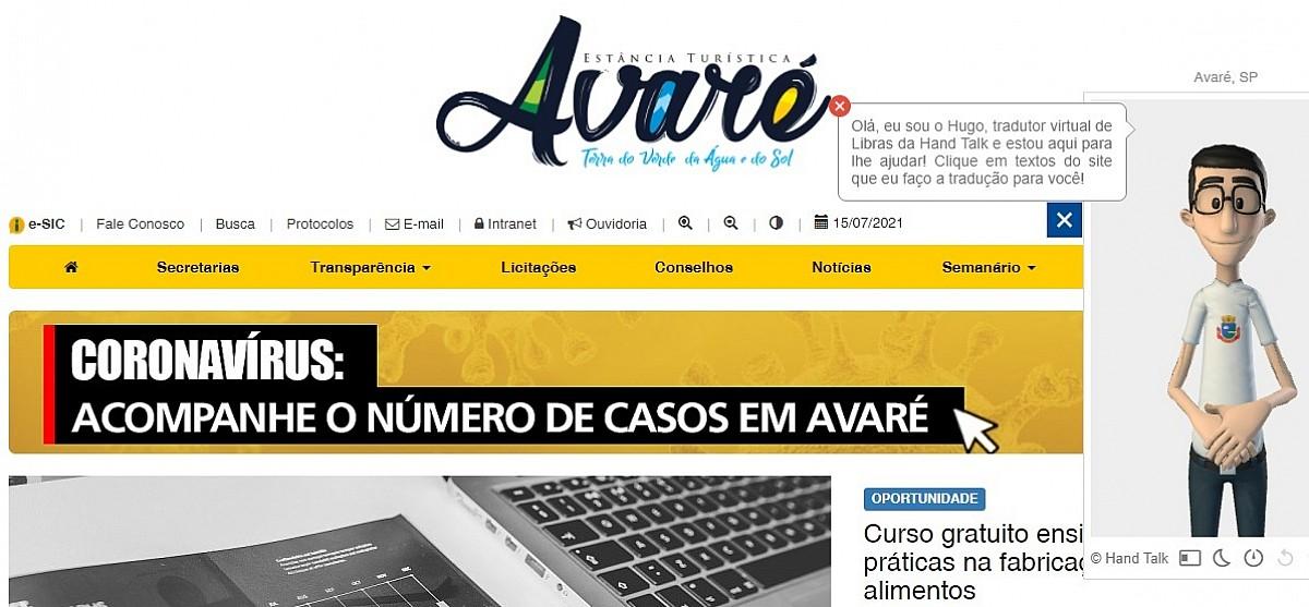 Aplicativo que traduz site da Prefeitura para Libras foi aprovado por usuários