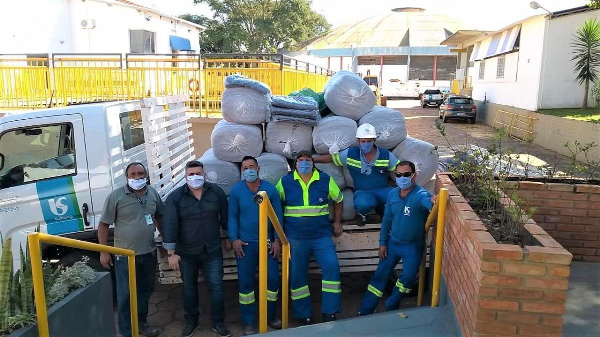 Fundo Social recebe doação de cobertores da Sabesp