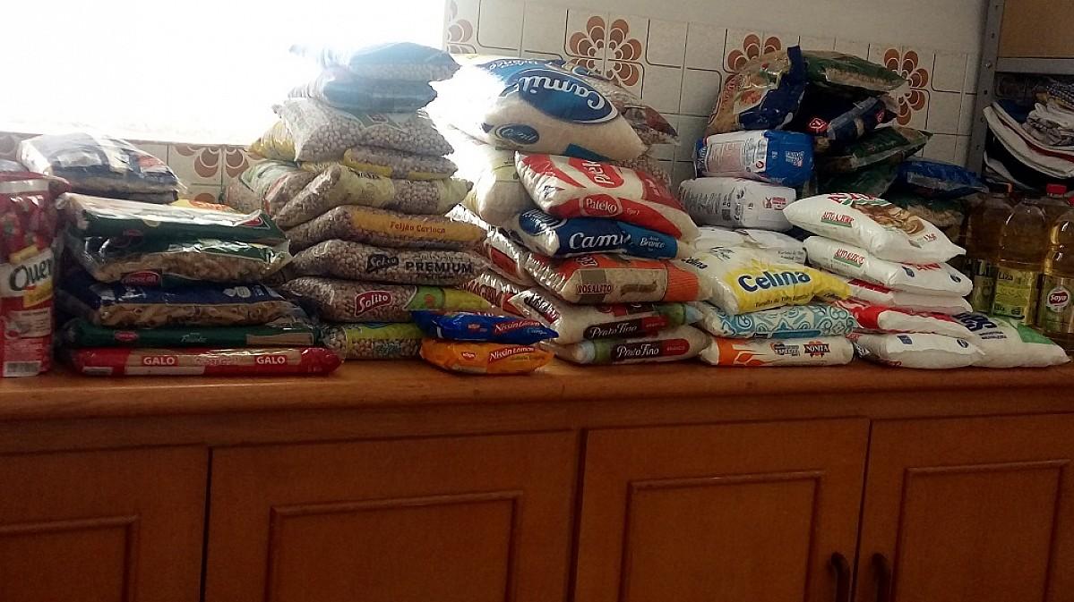 Estimacão garante mais de 200 quilos de alimentos para o Fundo Social