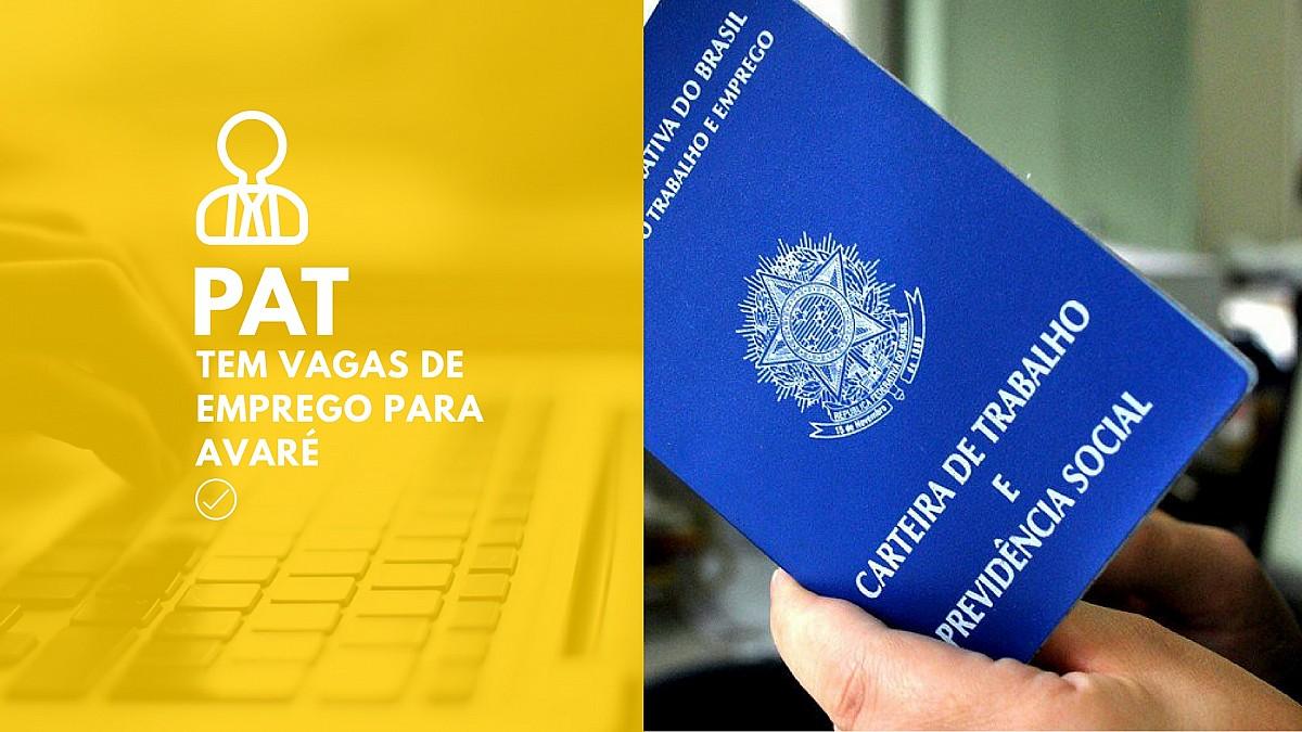 PAT de Avaré divulga vagas de emprego