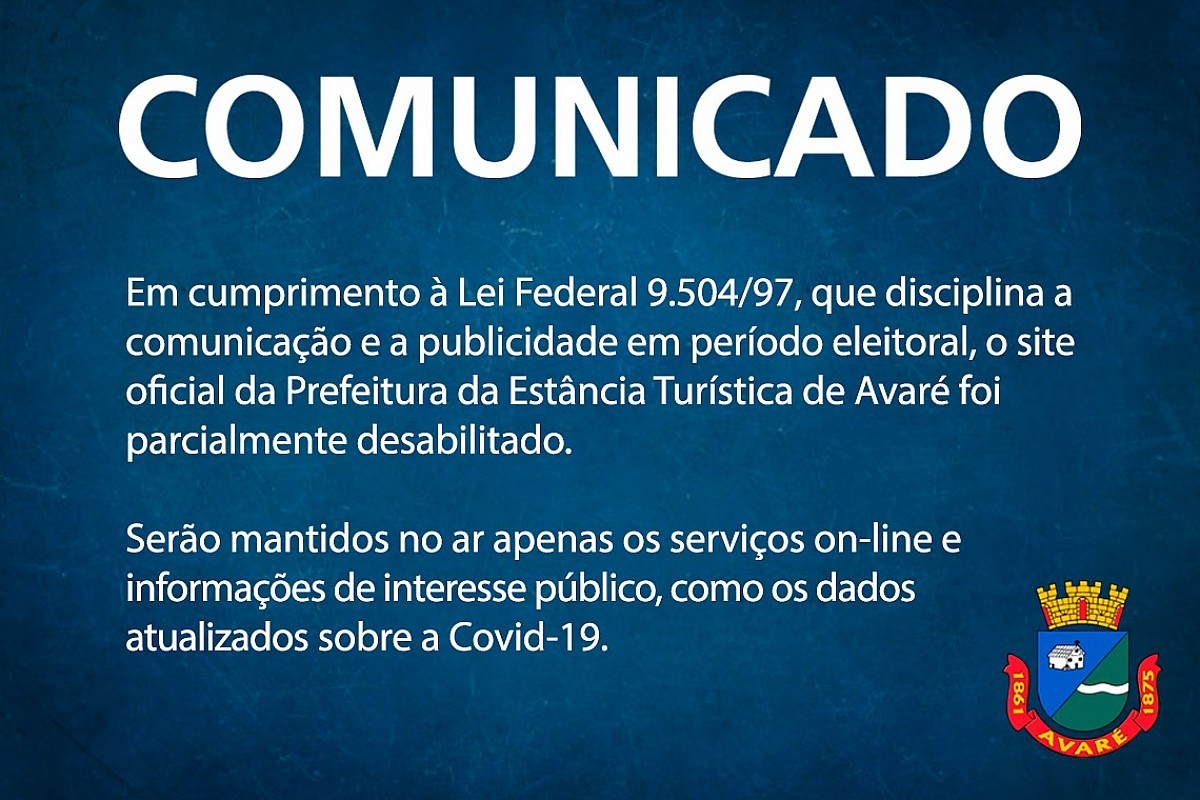 Informações sobre Covid-19 estão disponíveis no site oficial