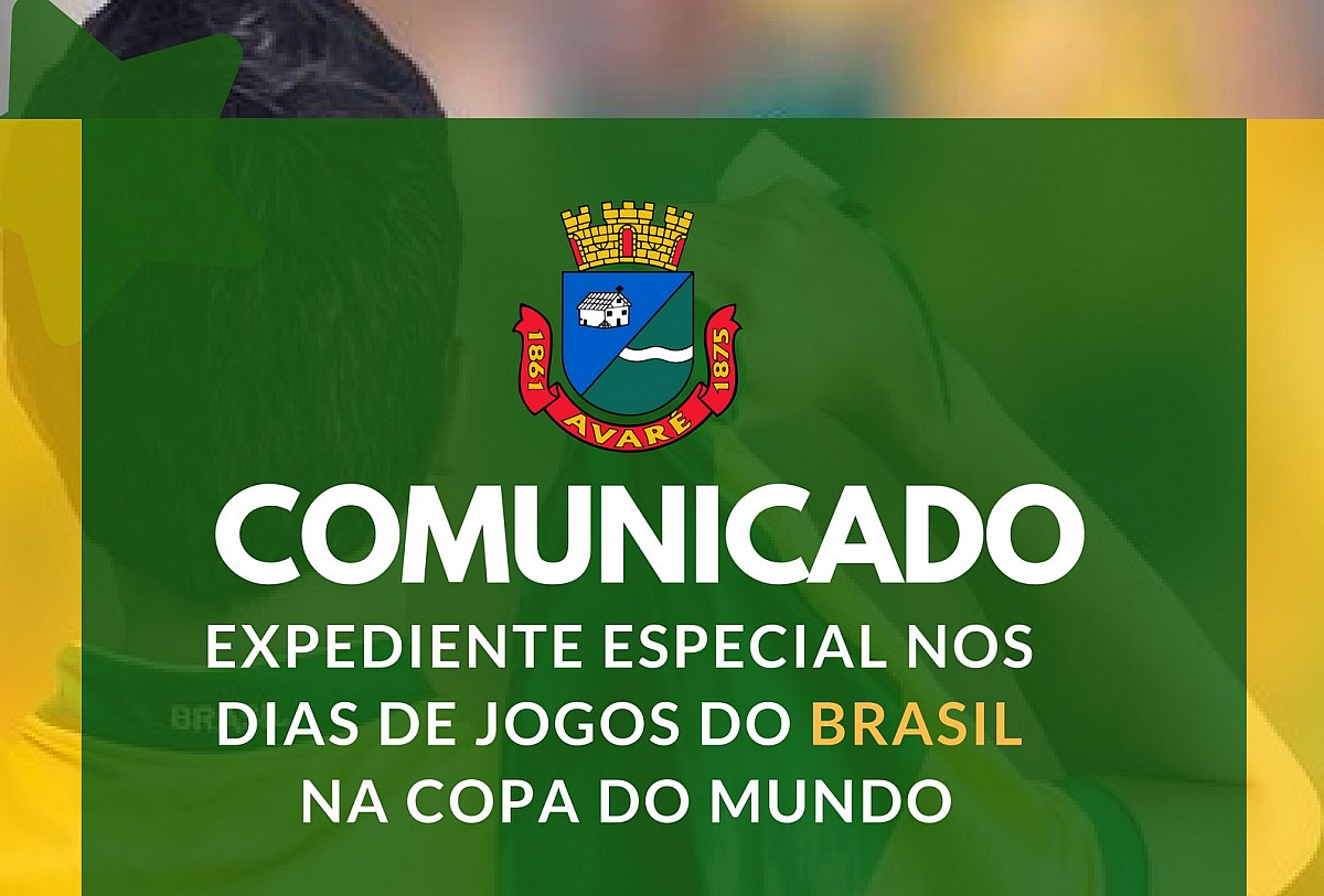 Expediente especial durante jogos do Brasil na Copa
