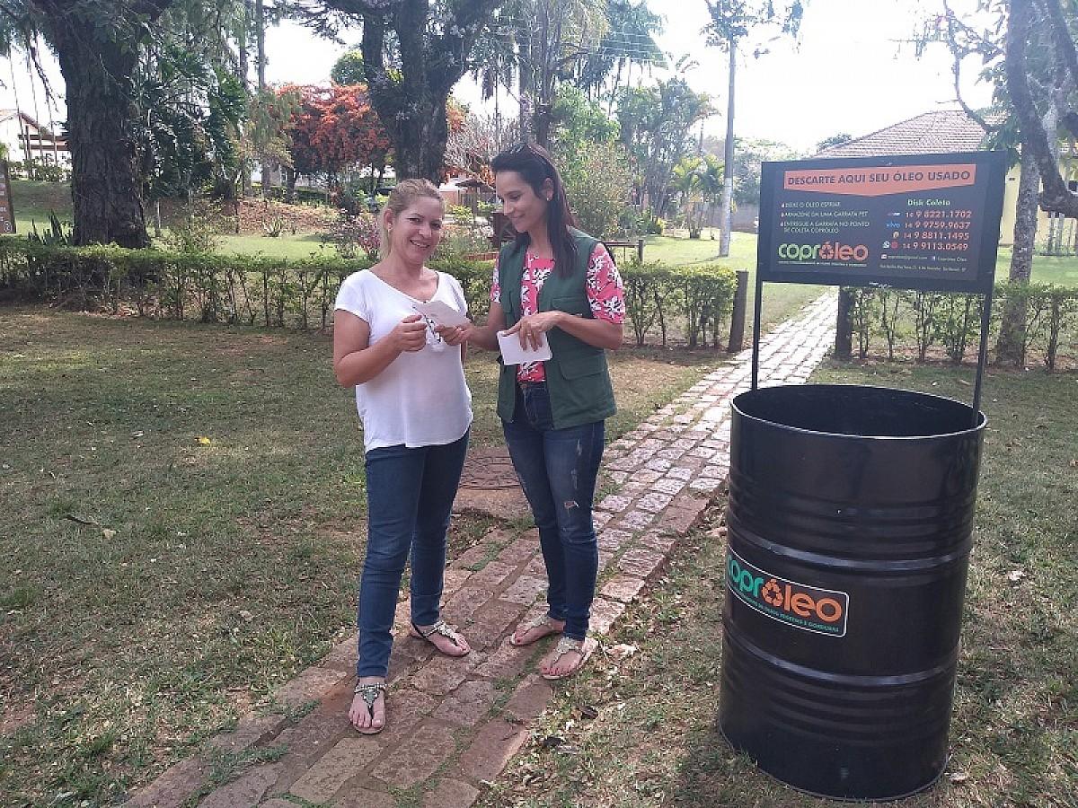 Escolas municipais recebem ecopontos para coleta de óleo usado