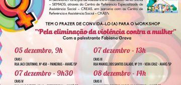 """Workshop  """"Pela eliminação da violência contra a mulher"""""""