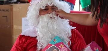Final de semana tem chegada do Papai Noel e entrega de cestas de Natal