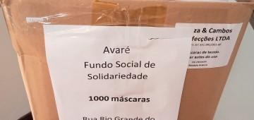 Fundo Social recebe doação de máscaras da concessionária responsável pela SP-255