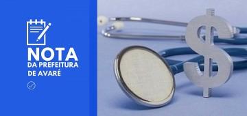 Saúde esclarece distorções quanto a investimentos