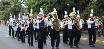 Banda Marcial estreou no desfile dos 157 anos de Avaré