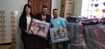 Fundo Social recebe doação de alimento e cobertores