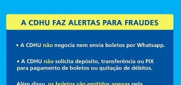CDHU alerta sobre cobranças falsas por email e WhatsApp