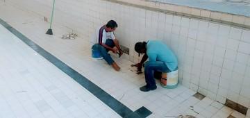 Piscina Municipal recebe manutenção
