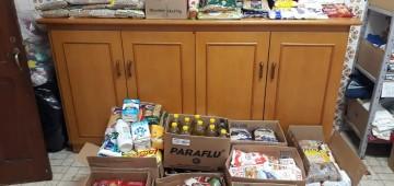 Fundo Social recebe doações de alimentos e leite