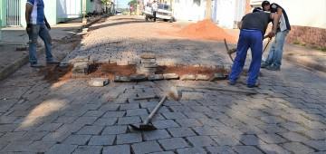 Rua Pará passa por intervenção