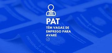 PAT: vagas de emprego em Avaré