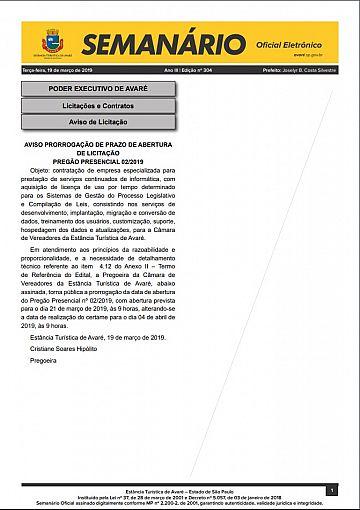 Semanário Oficial - Ed. 304