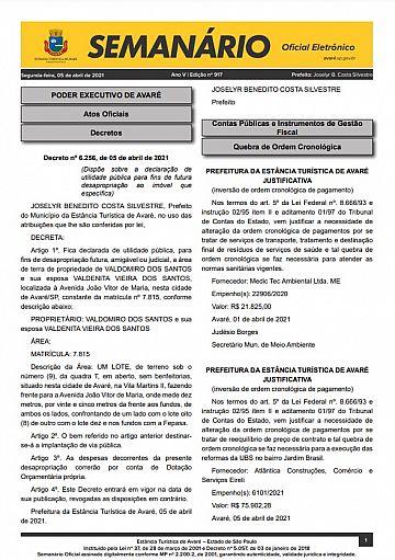 Semanário Oficial - Ed. 917