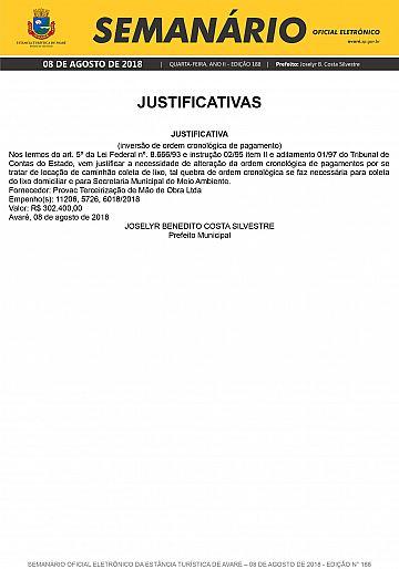 Semanário Oficial - Ed. 188