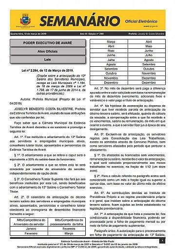 Semanário Oficial - Ed. 299