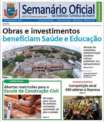 Semanário Oficial - Ed. 705