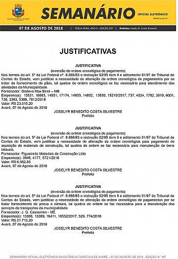 Semanário Oficial - Ed. 187