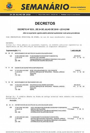 Semanário Oficial - Ed. 181