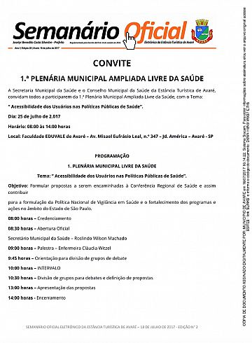 Semanário Oficial - Ed. 28