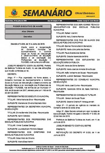 Semanário Oficial - Ed. 390