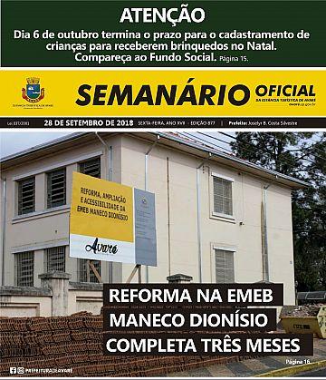 Semanário Oficial - Ed. 877