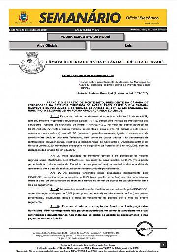 Semanário Oficial - Ed. 775