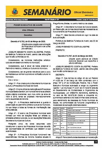 Semanário Oficial - Ed. 571