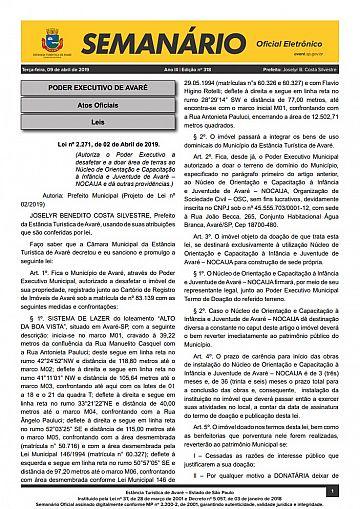 Semanário Oficial - Ed. 318