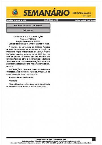 Semanário Oficial - Ed. 636