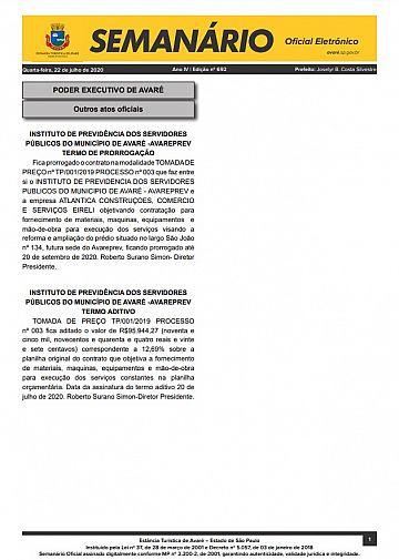 Semanário Oficial - Ed. 692