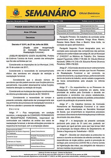 Semanário Oficial - Ed. 696