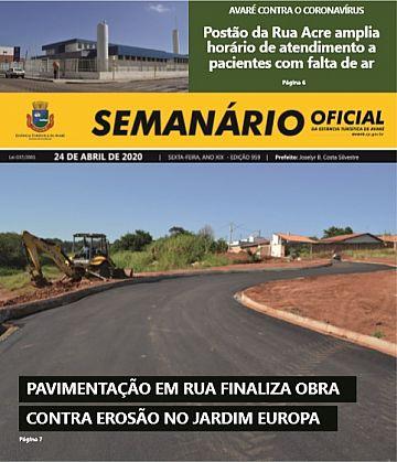 Semanário Oficial - Ed. 959