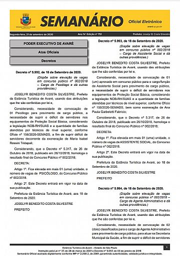 Semanário Oficial - Ed. 751