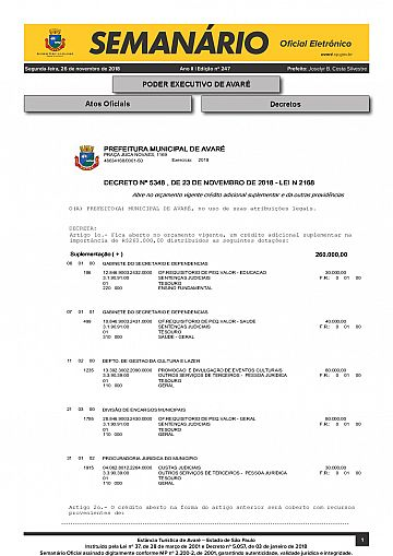 Semanário Oficial - Ed. 247