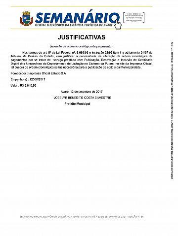 Semanário Oficial - Ed. 36