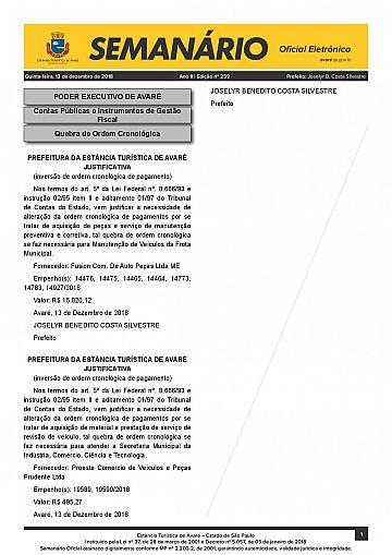 Semanário Oficial - Ed. 259
