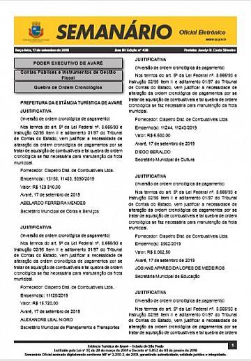 Semanário Oficial - Ed. 438