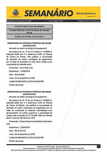 Semanário Oficial - Ed. 264