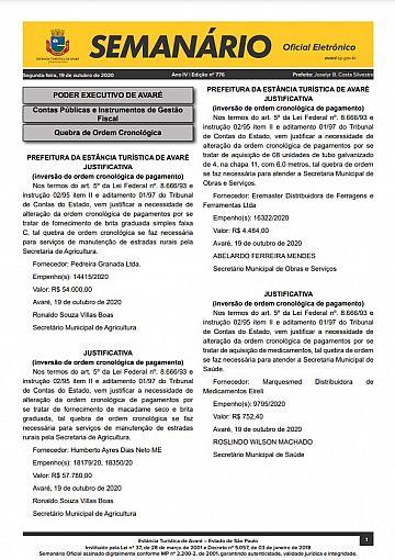 Semanário Oficial - Ed. 776